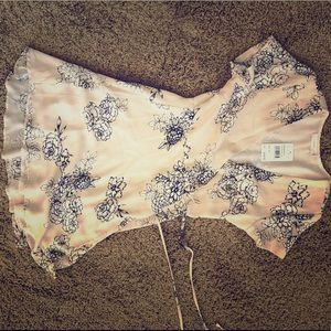 Lush taupe-sheer floral dress